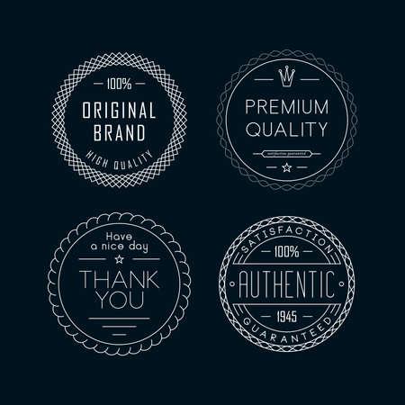 Vintage badges and labels illustration design Illustration