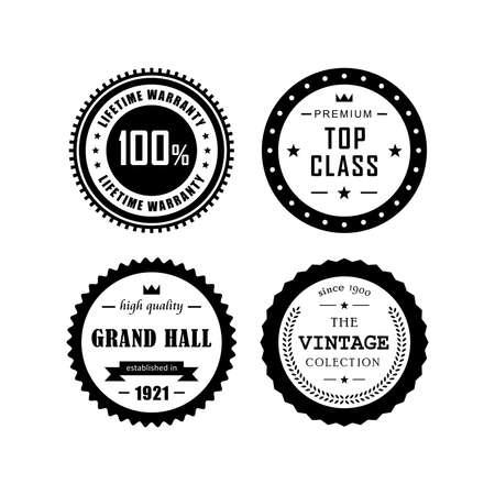 top class: Vintage badges vector design 4