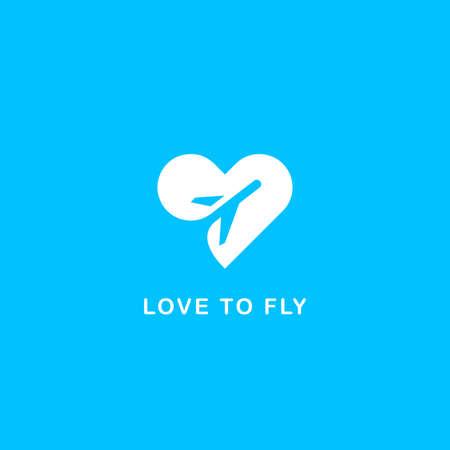 agencia de viajes: El amor para viajar símbolo