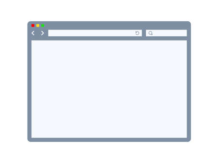 Internet browser template Vector