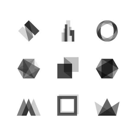 Transparant ontwerp elementen Stock Illustratie