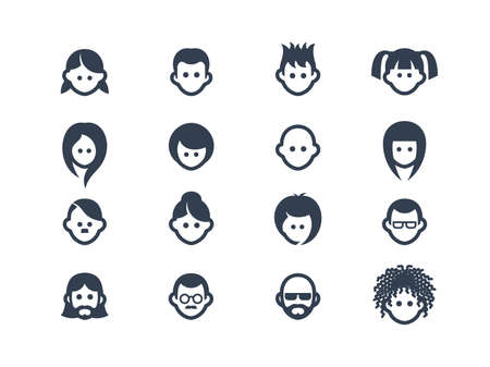 man face profile: Avatar icons