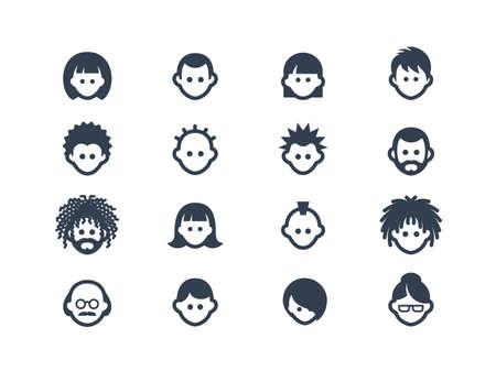Avatar en gebruiksvriendelijke pictogrammen Stock Illustratie