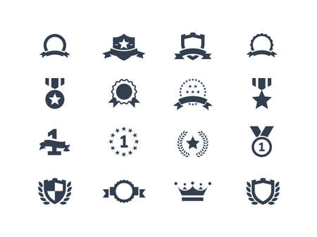 Set of award and trophy icons Vector