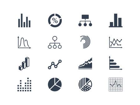 caudal: Diagrama y infogr�ficas iconos