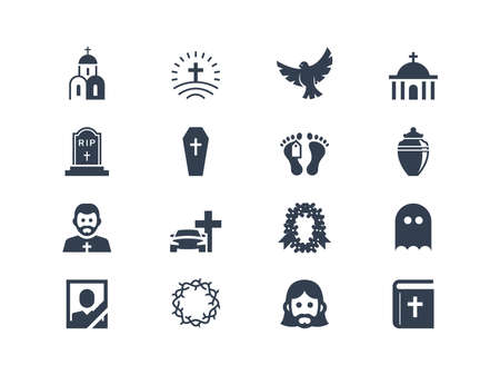 people in church: Funeral icons