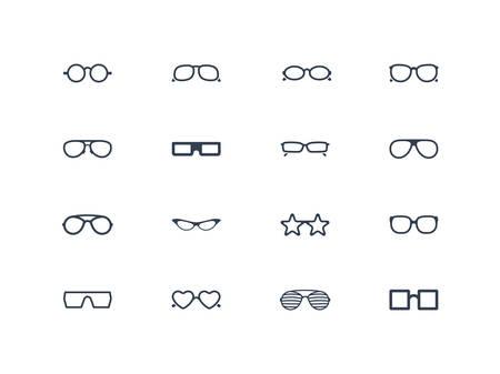 Eye glasses icons Vector