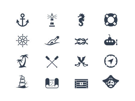 nautical vessel: Marine and nautical icons