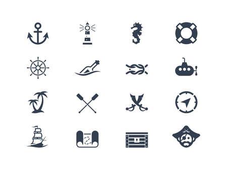 Marine und Wassersport-Symbole