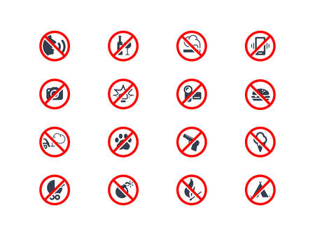 interdiction: icônes d'interdiction Illustration