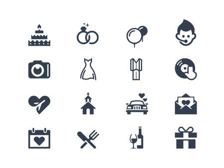 boda: Iconos de la boda