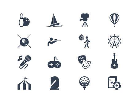 Entertainment icons. Lyra series Vector