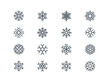 copo de nieve: Copo de nieve iconos