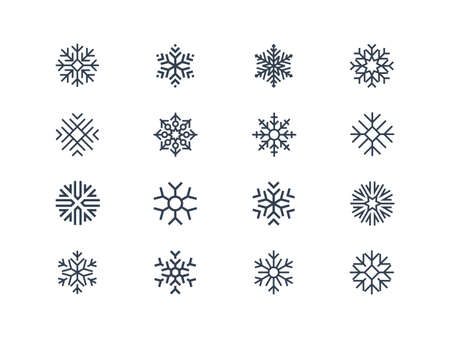 Snowflake pictogrammen Stock Illustratie