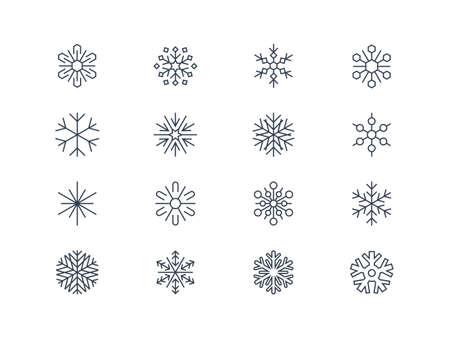 Snowflake icons 3