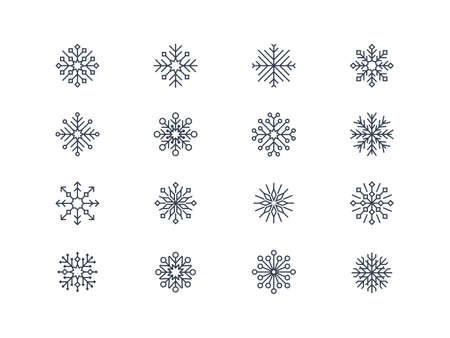 Snowflake icons 4 Vector