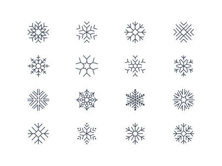 snow crystals: Snowflake icons 5