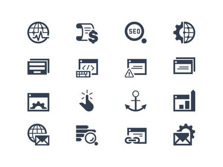 planing: Seo. Search engine optimization icons