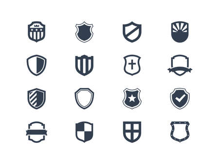 Shield icons Vettoriali