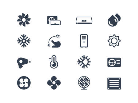 cooling: Air conditioning icons
