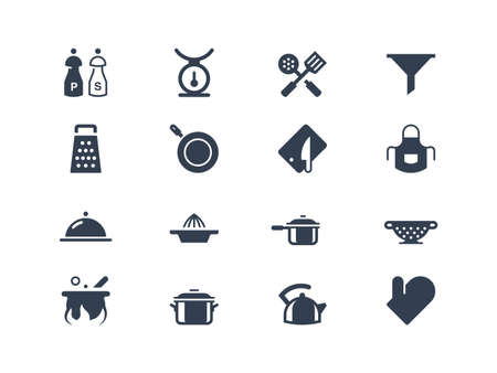 cooking utensils: Kitchen icons