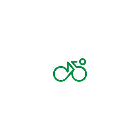 road bike: Cyclist line icon