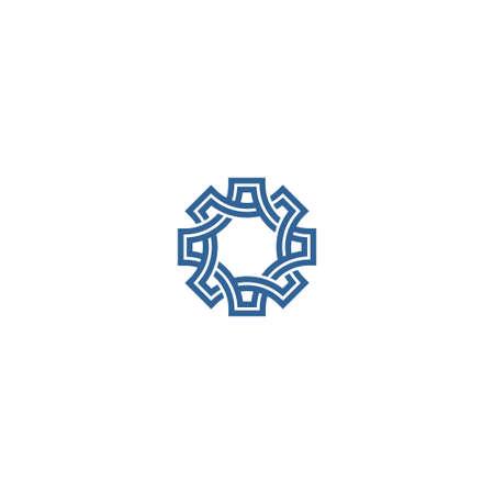 knot work: Abstract knotting symbol. Geometric flower Illustration