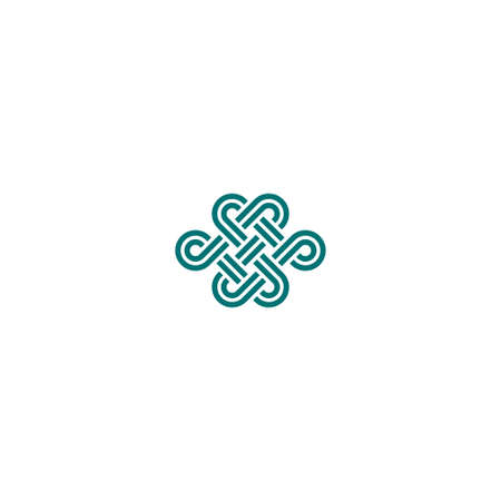 karma design: Infinite knot symbol on white background