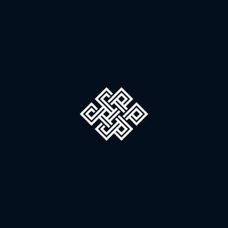 nudos: Infinito símbolo nudo sobre fondo negro