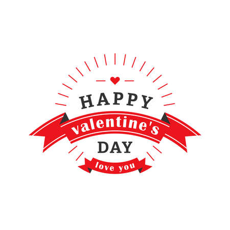 red label: Valentines day label. Red label