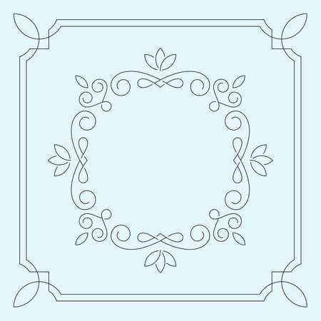 Floral monogramme de cadre. emblème Vintage