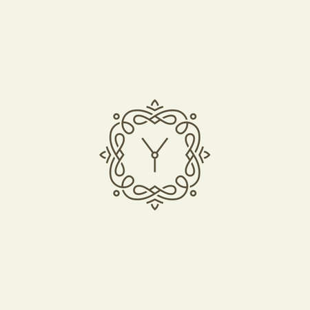 style template: Y monogram template. Line style