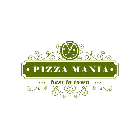 mania: Pizza Mania. Green restaurant banner