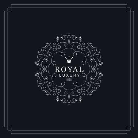 royal: Royal luxury emblem. Vintage style