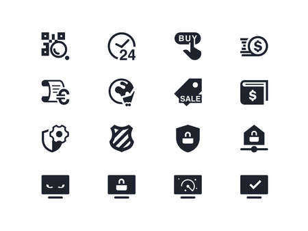 lyra: Commerce and security icons. set Lyra series Illustration