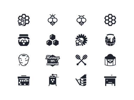 lyra: Beekeeping icons set. Lyra series