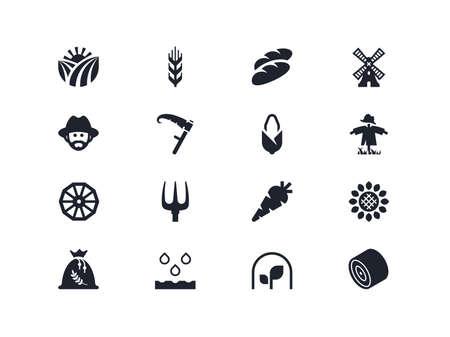 lyra: Farm icons set. Lyra series