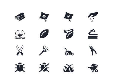 Gardening icons set. Lyra series