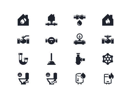 Home renovation icons set. Lyra series