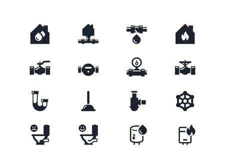 home renovation: Home renovation icons set. Lyra series