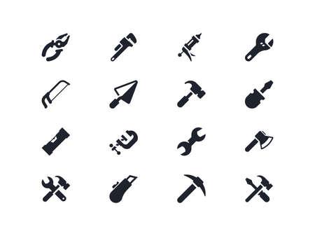 vise: Work tools icons set. Lyra series