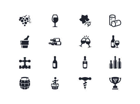 lyra: Wine industry icons set. Lyra series