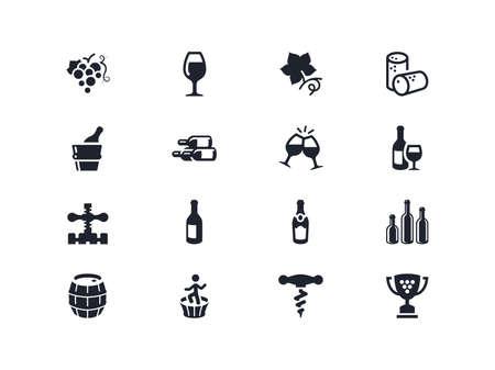 lyra: Wine industry icons set. Lyra series