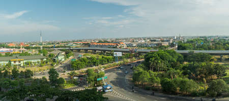 panoramic roof: Rooftop View of Cityscape Surabaya