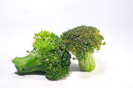 Green Organic Brocolli vegetable on white background