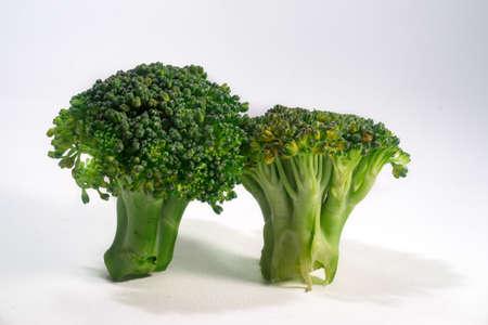 brocolli: Green Organic Brocolli vegetable on white background