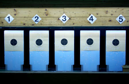 Target in a shooting gallery