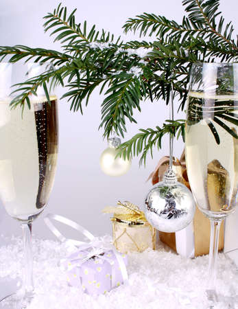 Silver New Year Stock Photo - 16535867