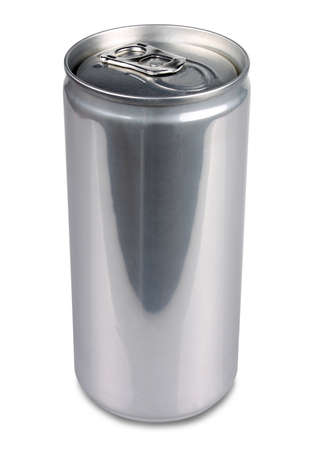 Aluminum can of 200 ml prosecco, isolated and blank photo