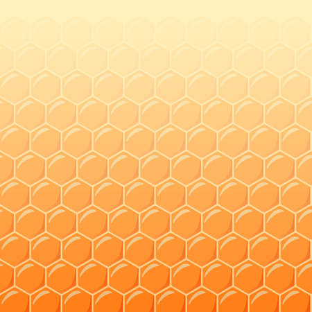 Honeycomb as vector background, soft light Vector